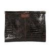Kožené psaníčko s krokodýlím vzorem vagabond, hnědá, 966-4002 - 19
