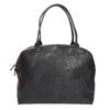 Kožená kabelka s pevnými uchy vagabond, černá, 964-6002 - 26