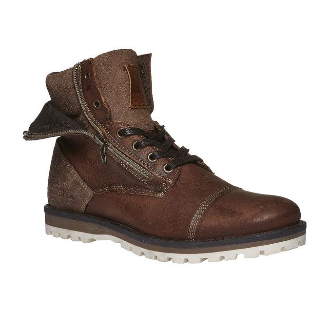 Kožené kotníkové boty se zipy bata, hnědá, 894-4102 - 13