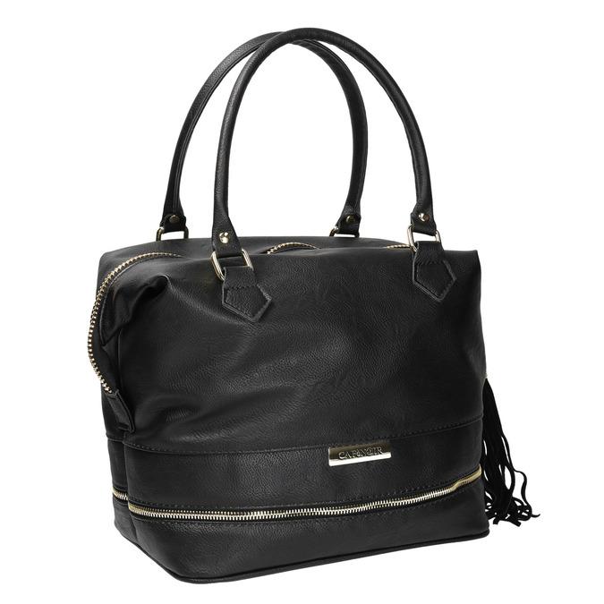 Černá dámská kabelka se zlatými detaily cafe-noir, černá, 961-6009 - 13