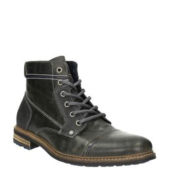 Pánská kožená obuv kotníčková bata, šedá, 894-2621 - 13