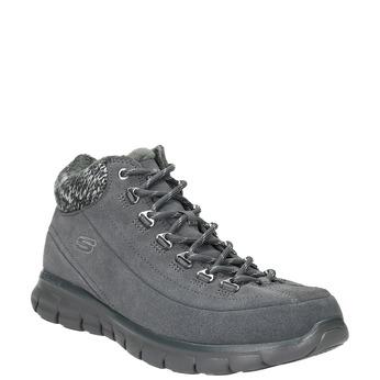 Dámská zimní obuv sportovní skecher, šedá, 503-2357 - 13