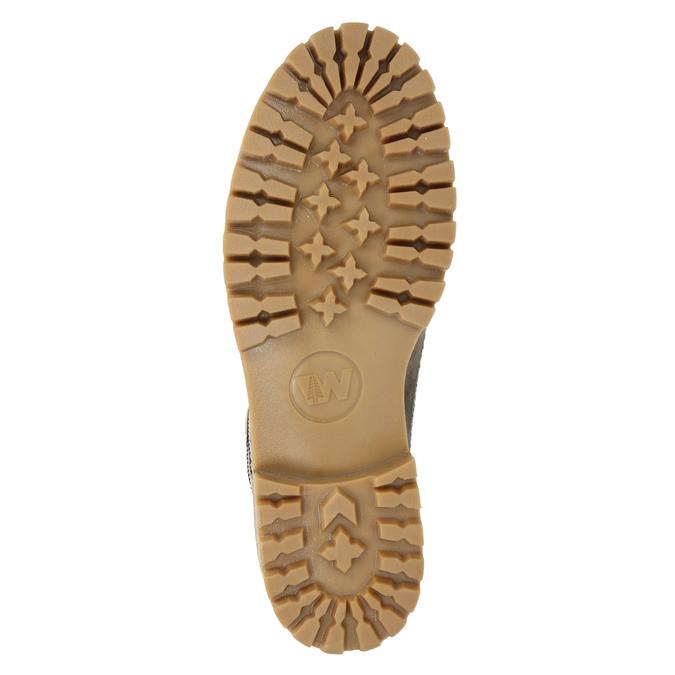 Kožená zimní obuv s kožíškem weinbrenner, šedá, 594-2491 - 17