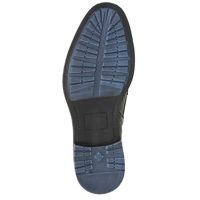 Pánská kožená obuv kotníčková bata, šedá, 894-2621 - 26