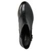 Kožené kotníčkové kozačky s přezkou vagabond, černá, 794-6001 - 19