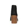 Kožené kotníčkové kozačky s pružnými boky vagabond, černá, 796-6006 - 17