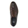 Celokožené polobotky s pleteným vzorem bata, hnědá, 826-3775 - 19