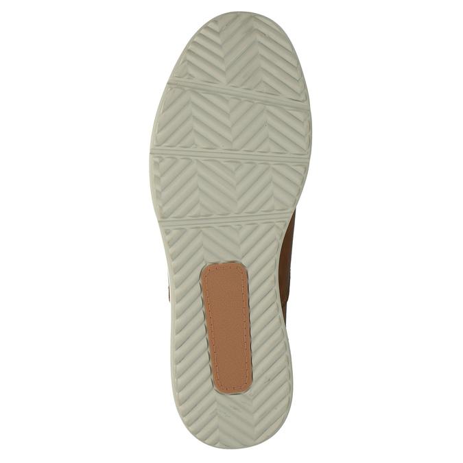 Kožená kotníčková obuv na ležérní podešvi bata, hnědá, 894-3660 - 26