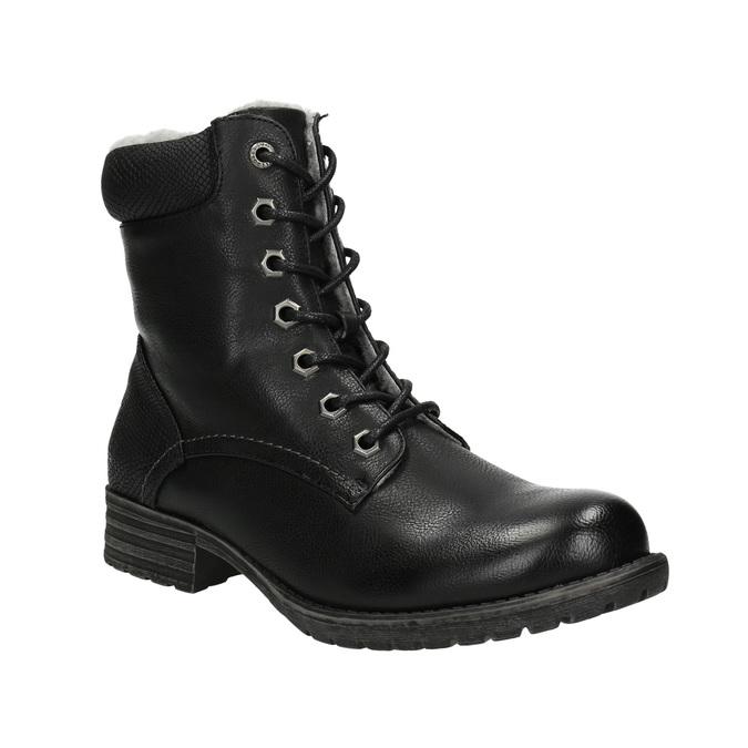 Dětská obuv s kožíškem bull-boxer, černá, 491-6008 - 13