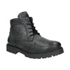 Pánská kožená kotníčková obuv bata, šedá, 896-2653 - 13