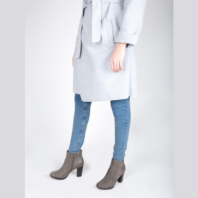 Kotníčková obuv na podpatku bata, šedá, 791-2602 - 18
