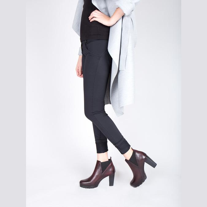 Kožená kotníčková obuv na vysokém podpatku bata, 796-5605 - 18