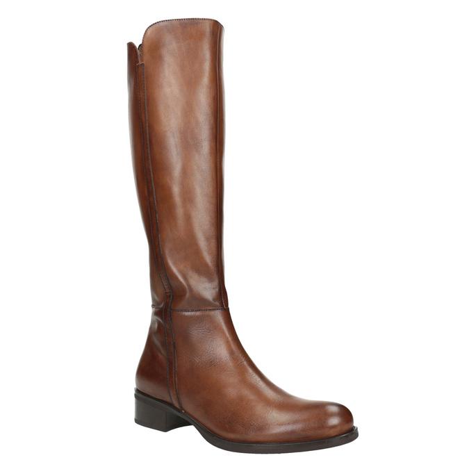 Dámské kožené kozačky bata, hnědá, 594-3586 - 13
