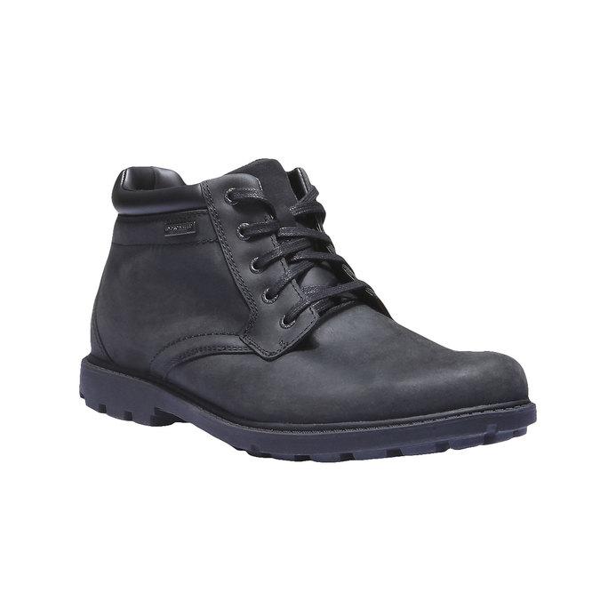 Kožená kotníčková obuv rockport, černá, 896-6411 - 13