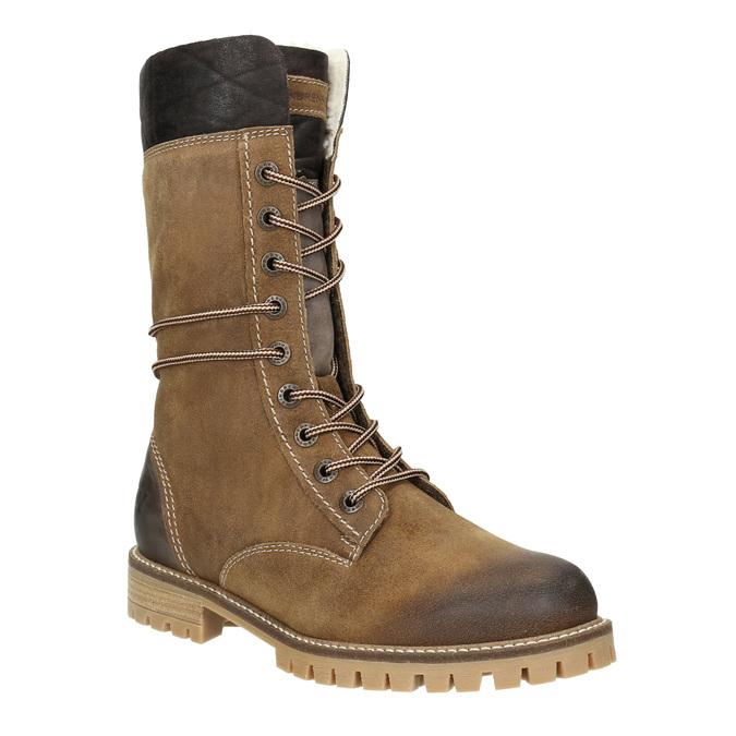 Dámská zimní obuv s kožíškem weinbrenner, žlutá, 593-8476 - 13