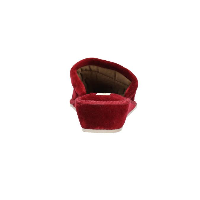 Dámská domácí obuv na klínovém podpatku bata, červená, 679-5607 - 17