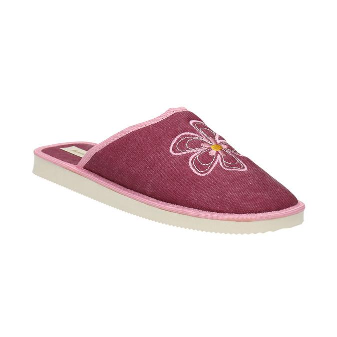 Dámská domácí obuv s kytičkou bata, červená, 579-5605 - 13