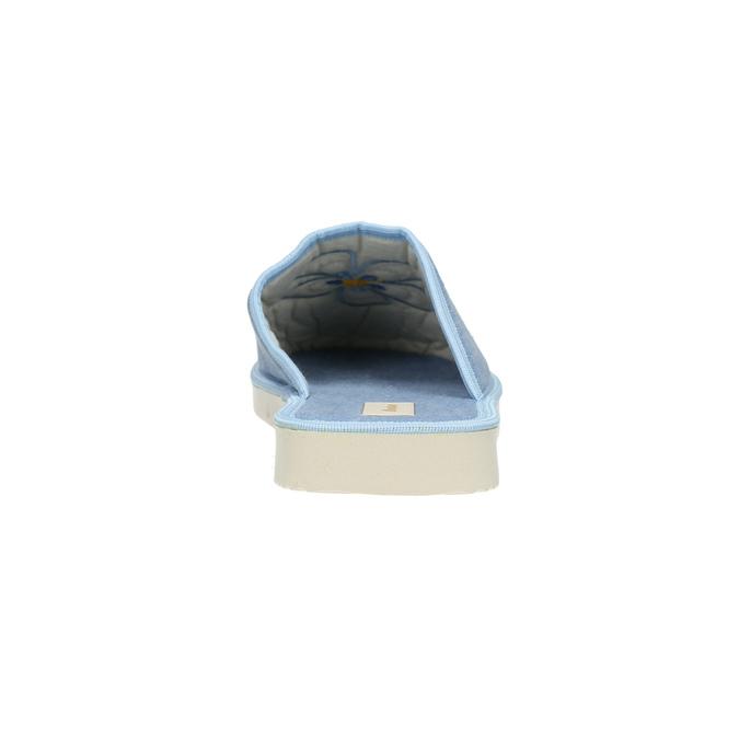 Dámská domácí obuv s kytičkou bata, modrá, 579-9605 - 17