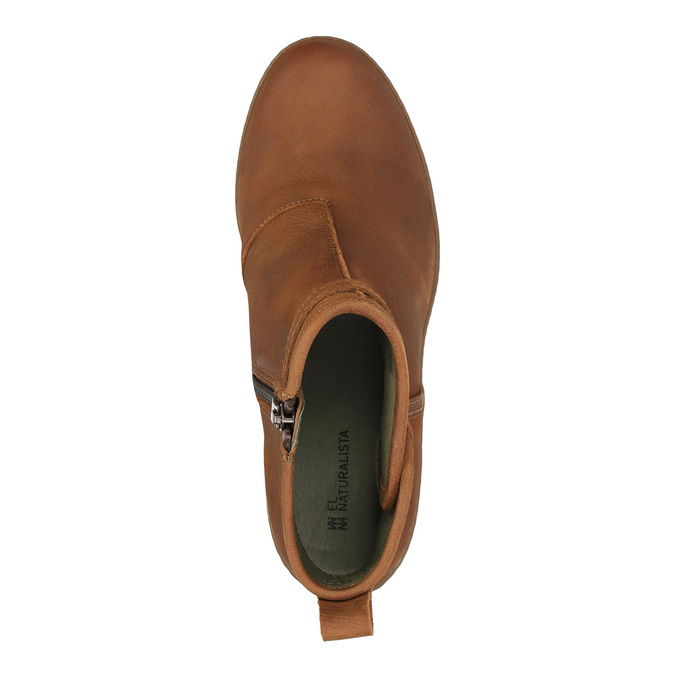 Dámská kotníčková obuv el-naturalista, hnědá, 716-4040 - 19