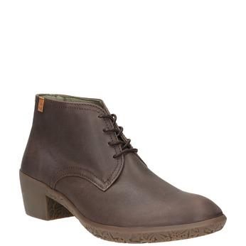 Kožená kotníčková obuv el-naturalista, hnědá, 624-4043 - 13