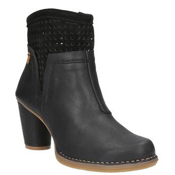 Dámská kotníčková obuv el-naturalista, černá, 714-6041 - 13
