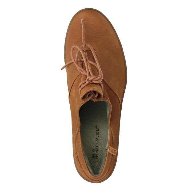 Kožená kotníčková obuv se šněrováním el-naturalista, hnědá, 726-4045 - 19