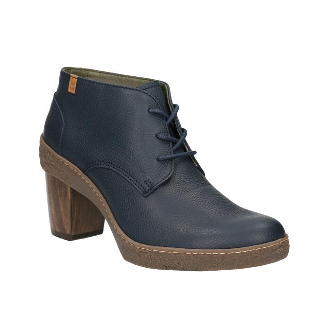 Kotníčková obuv na stabilním podpatku el-naturalista, modrá, 724-9045 - 13