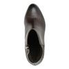 Kožená kotníčková obuv na podpatku gino-rossi, hnědá, 714-4010 - 19