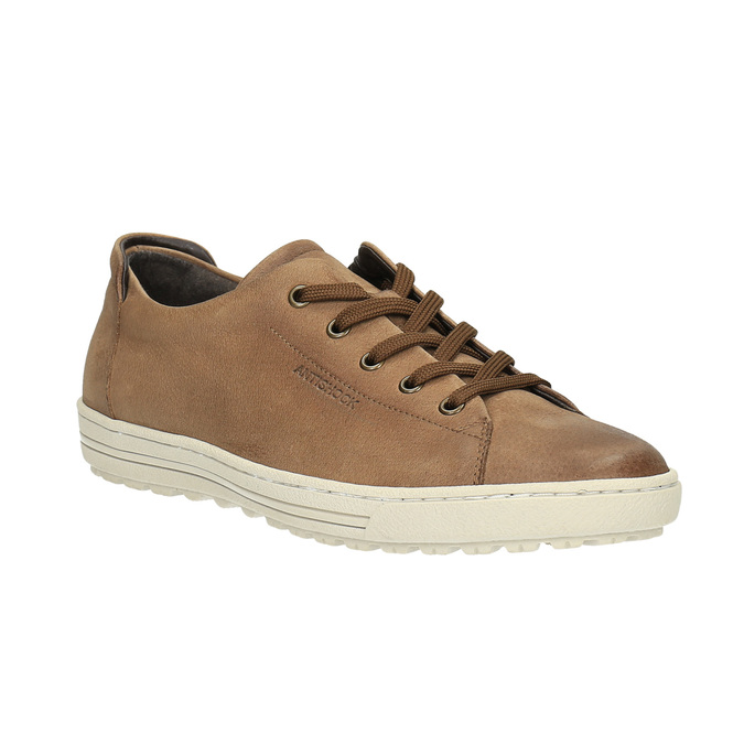 Dámské kožené tenisky bata, hnědá, 524-8349 - 13