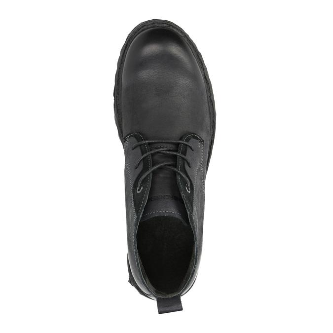 Kožená kotníčková obuv weinbrenner, černá, 844-6603 - 19