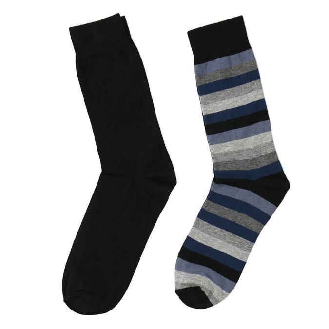 Pánské ponožky 2 páry bata, černá, 919-6411 - 26