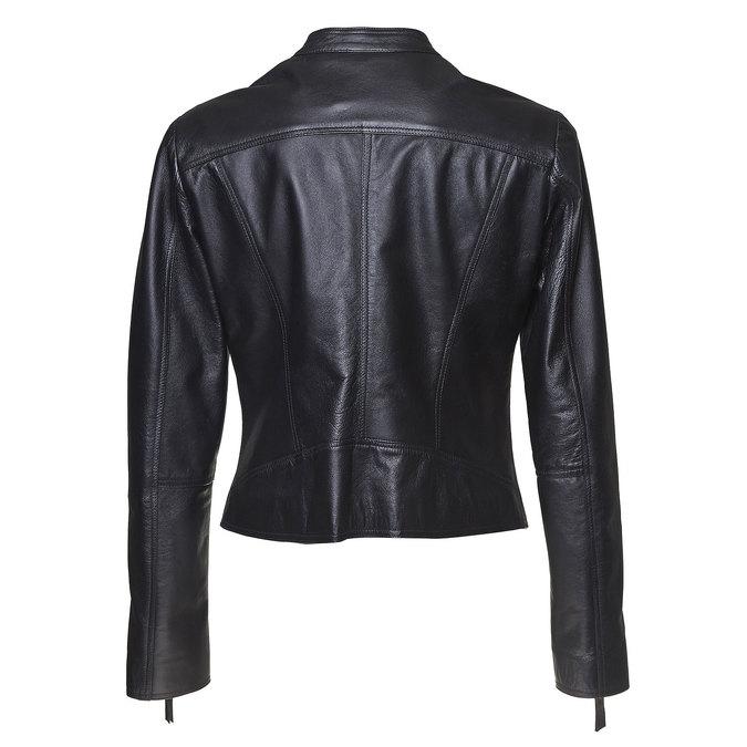Dámská kožená bunda bata, černá, 974-6145 - 26