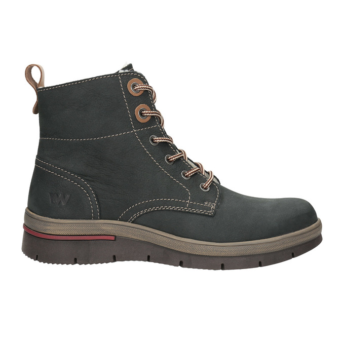 Kožená dámská zimní obuv weinbrenner, šedá, 596-2636 - 15