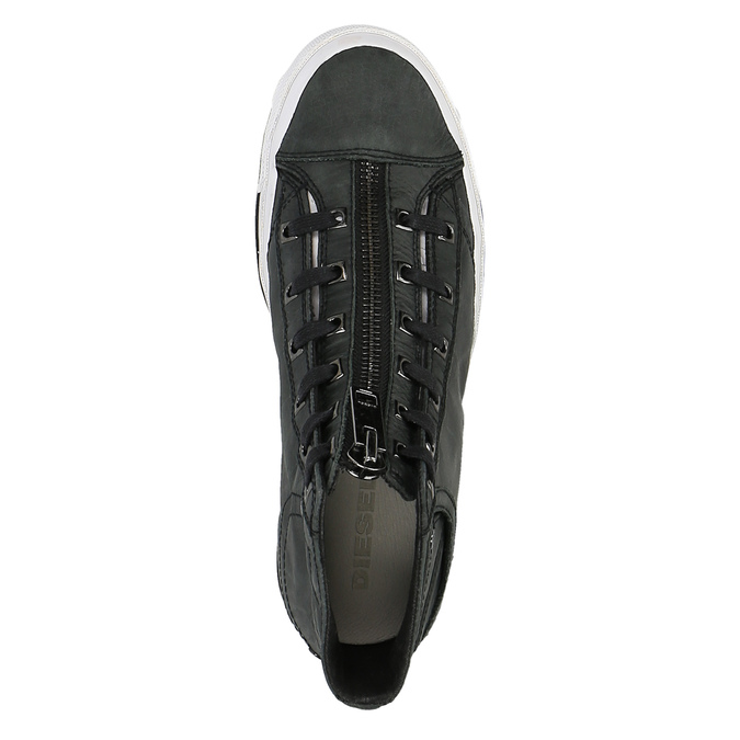 Kotníčkové tenisky se zipem na nártu diesel, černá, 504-6745 - 19