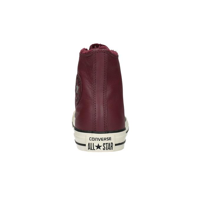 Kožené kotníčkové tenisky se zateplením converse, červená, 596-5082 - 17