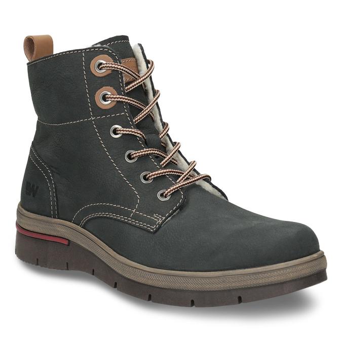 Kožená dámská zimní obuv weinbrenner, šedá, 596-2636 - 13