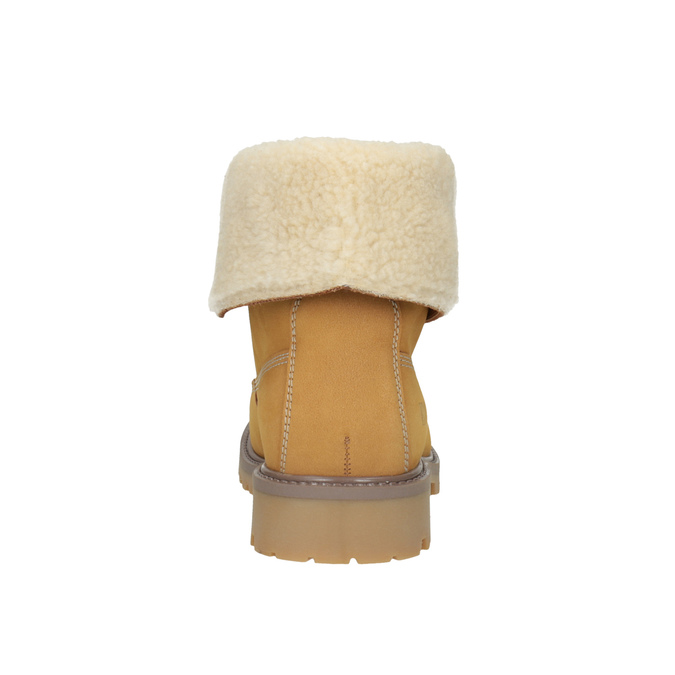 Kožená kotníčková obuv s kožíškem weinbrenner, hnědá, 596-8638 - 17