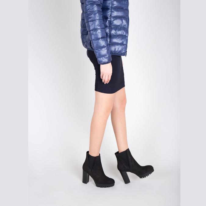 Dámská kotníčková obuv na masivním podpatku bata, černá, 796-6634 - 18