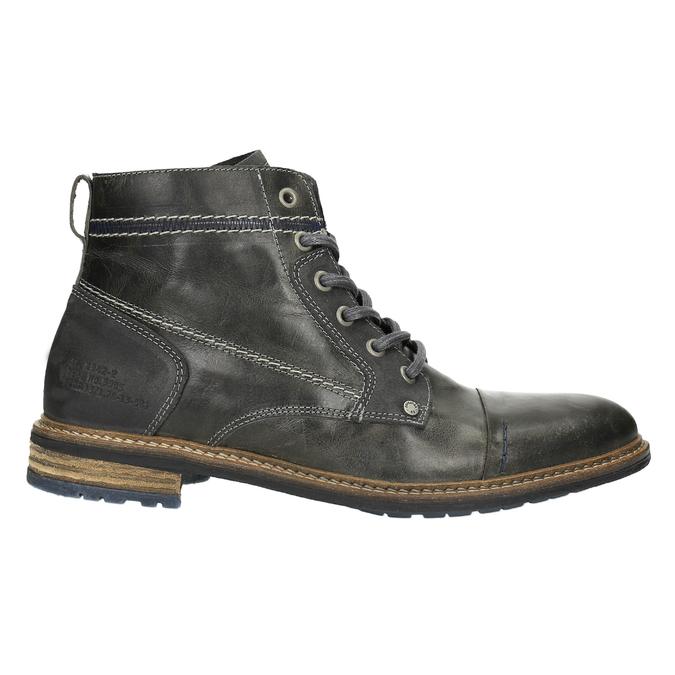 Pánská kožená obuv kotníčková bata, šedá, 894-2621 - 15