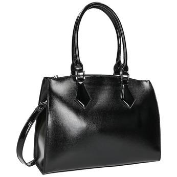Dámská kabelka s pevnými uchy bata, černá, 961-6740 - 13