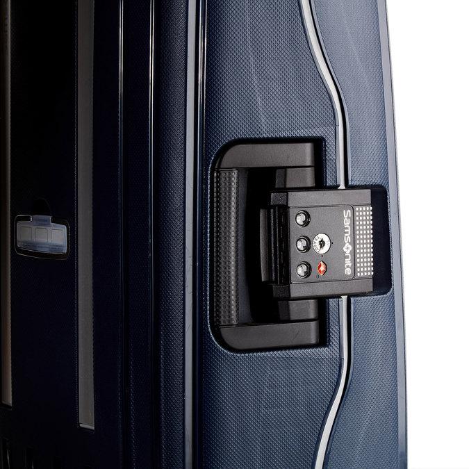 Kvalitní skořepinový kufr samsonite, modrá, 960-9321 - 19