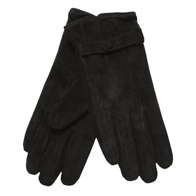 Kožené dámské rukavice s páskem bata, černá, 903-6100 - 13