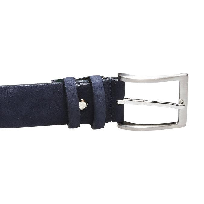Pánský kožený opasek bata, modrá, 954-9120 - 26