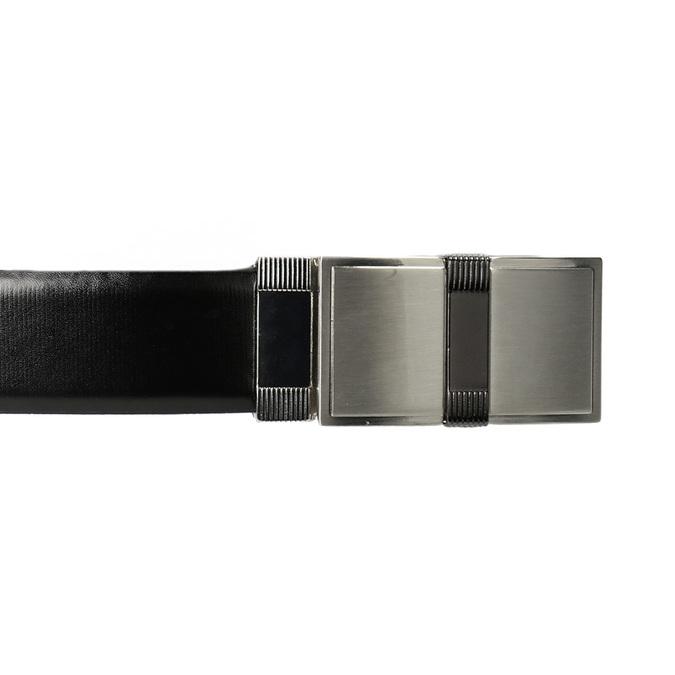Pánský opasek s hranatou sponou bata, černá, 954-6140 - 26