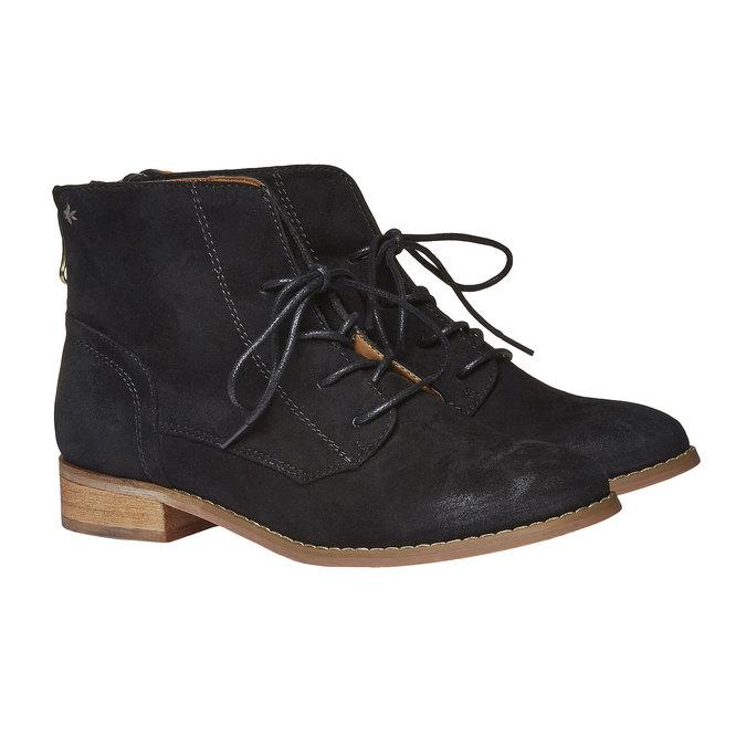 Kotníčkové boty se zipem bata, černá, 599-6493 - 26