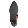 Kožené lodičky s páskem přes nárt bata, červená, 626-5604 - 26