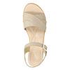Kožené sandály na nízkém podpatku bata-touch-me, béžová, 666-8203 - 26