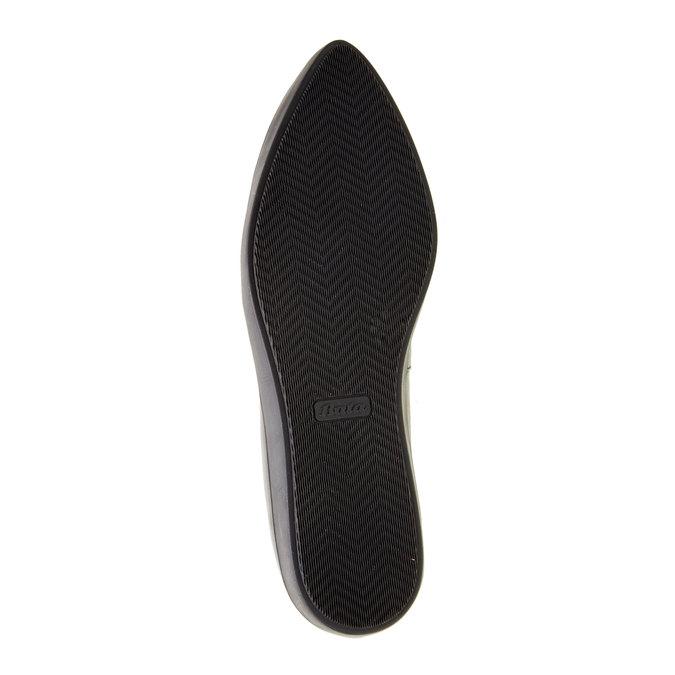 Kožené baleríny s výraznou podešví bata, černá, 524-6464 - 26