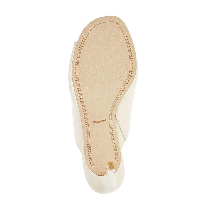 Dámské sandály na vysokém podpatku bata, béžová, 761-8551 - 26