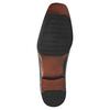 Černé kožené polobotky bata, černá, 824-6724 - 26